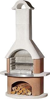buschbeck–Parrilla chimenea Davos, 1pieza, color blanco de Terra con acero inoxidable Apertura, 90090.000