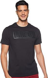 Timberland mens Mink Brook Linear Logo Tee T-Shirt