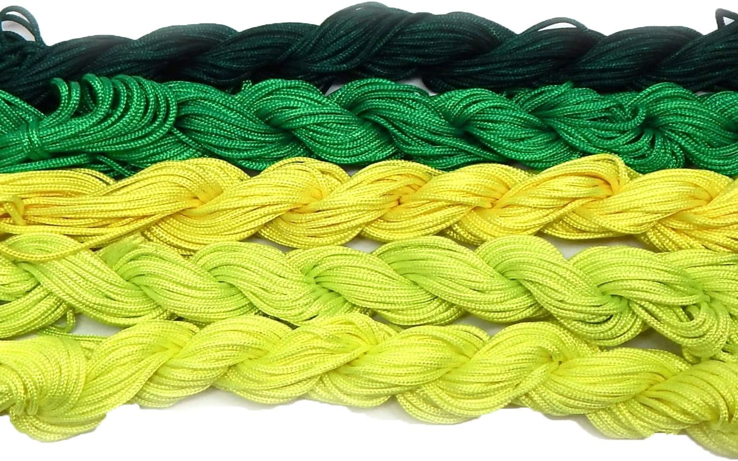 Chinese Knotting Beading Cord Mixed Approx Year-end gift Skei 5 12 1.5mm Max 85% OFF Yard