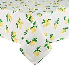 Kate Spade New York Make Lemonade Cotton Tablecloth, Tablecloth-60x102, Multi
