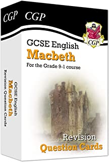 New Grade 9-1 GCSE English Shakespeare - Macbeth Revision Question Cards