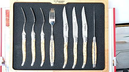 Steakmesserset 8-teilig, Laguiole en Aubrac, Aubrac, Aubrac, 4 Gabel  4 Messer, Birke, brillant B07DLXVLF9   Komfort  df16ee