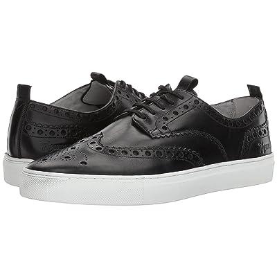Grenson Wingtip Sneaker (Sneaker 3 Black Calf) Men