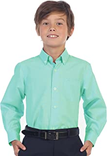 Gioberti Boy's Oxford Long Sleeve Dress Shirt