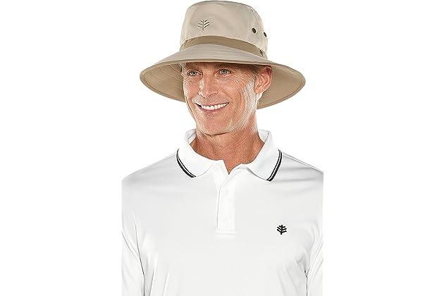 8169a99839 Coolibar UPF 50+ Men s Matchplay Golf Hat - Sun Protective