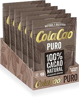 ColaCao Puro:100% Cacao Natural Y Sin Aditivos - 6 Envases de 250g (1.500g)