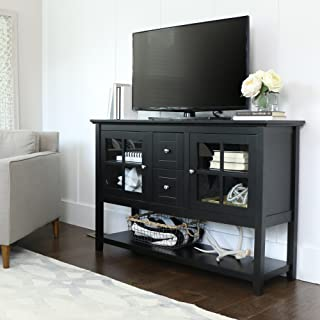 WE Furniture Rustic Farmhouse Wood Buffet Storage Cabinet Living Room