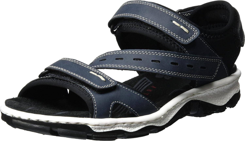 Rieker Women Sandals bluee, (Denim black) 68868-14