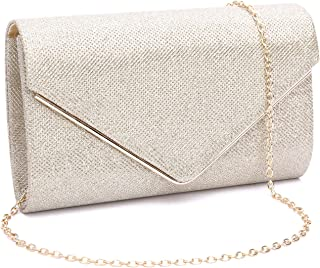 Womens Shining Envelope Clutch Purses Evening Bag Handbags For Wedding and Party
