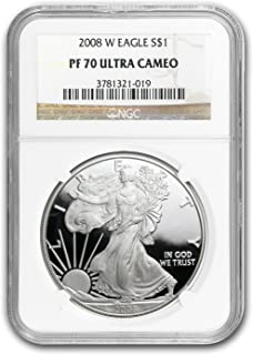 2008 W Proof Silver American Eagle PF-70 NGC Silver PR-70 NGC