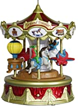 Keepsake 2019 Year Dated Christmas Carnival Traveler Merry-Go-Round Musical Ornament with Light and Motion (Plays Toyland Song)