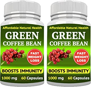 Green Coffee Bean - Weight Loss Supplement - Appetite SUPPRESSANT - 120 Capsules 2 Month Supply - 1000 mg - Organic - GMO ...