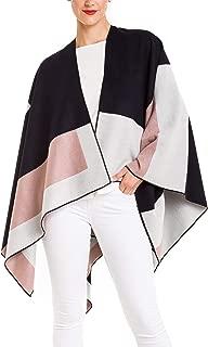 Women's Shawl Wrap Poncho Ruana Cape Cardigan Sweater...