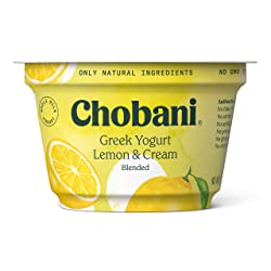 Chobani Greek Yogurt, Whole Milk, Lemon, 5.3 oz