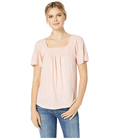 Lucky Brand Embroidered Square Neck Top (Blossom) Women