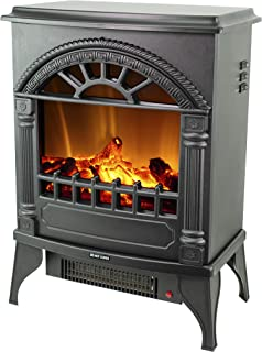 Sun-Ray 111001 3D Flame Effect Freestanding Electric Fireplace Stove Heater 750W/1500W, Black - 16