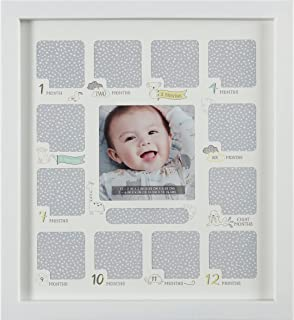 Carter's BFP7-23287 Gender Neutral Baby's First Year Picture Frame and Baby Month Stickers, 12'' W x 13.2'' H, 13pcs