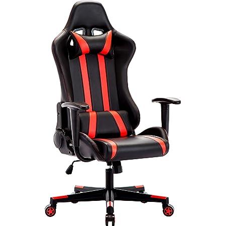 IntimaTe WM Heart Sedia Gaming Economica, 135 ° Reclinabile Sedia Girevole ergonomica per Studio,Sedia Racing Ufficio,Poltrona da Ufficio, Rosso GD013
