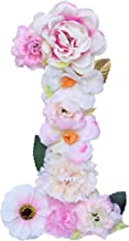 ZHENHAN Artificial Decorative Number with Flowers, Pink, 7.9