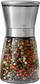 Pepper Grinder or Salt Shaker for Professional Chef – Best Spice Mill with Brushed..