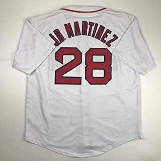 Unsigned JD J.D. Martinez Boston White Custom Stitched Baseball Jersey Size Men's XL New No Brands/Logos