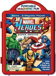 Marvel Heroes Super Origins Books & Magnetic Playset