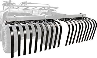 Black Boar ATV/UTV Landscape Rake Implement for Removal of Rock, Grass Clumps and Debris, Prep for Seeding, Cultivate, Establish Food Plot, Maintain Land (66002)
