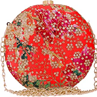 Tooba Women's Clutch (Red Sequins)