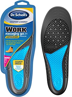 Dr. Scholl's WORK Insoles // All-Day Shock Absorption and Reinforced Arch Support that Fits in Work Boots and More (for Wo...