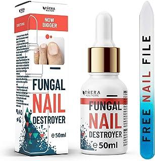 Premium svamp Nail Destroyer, lämplig för finger och tånagel | Innehåller Arganolja och Tea Tree Oil 50 ml | Gratis nagelf...