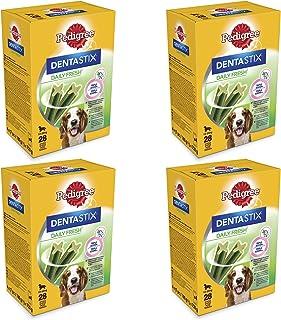 Pedigree Dentastix Fresh 112 Snack per la Igiene Orale (Cane Medio 10-25 kg) 180 g 28 Pezzi - 4 Confezioni da 28 Pezzi (11...