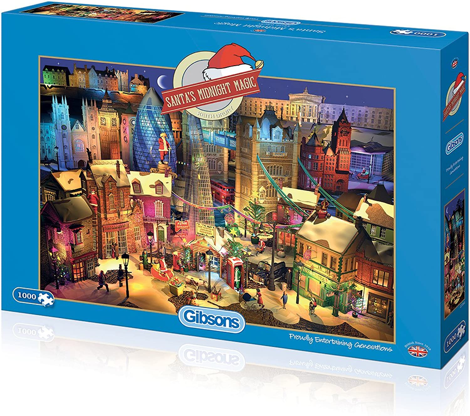 Gibsons Santa's Midnight Magic Jigsaw Puzzle (1000)