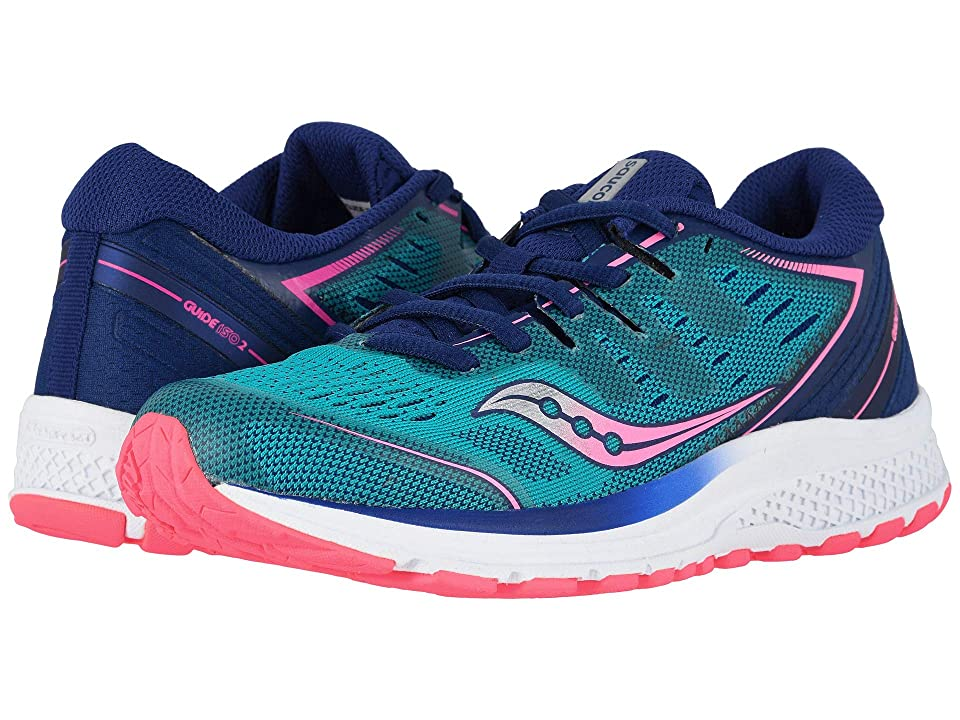 Saucony Kids Guide ISO 2 (Little Kid/Big Kid) (Teal/Pink 2) Girls Shoes