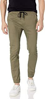 Men's Twill Jogger Pants Soft Stretch Slim Fit Trousers