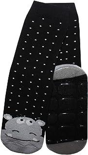 Weri Spezials calzini per bambini e neonati con ABS 'Ippopotamo in nero.