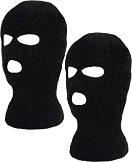 WILLBOND 2 Pieces Knitted Full Face Cover Ski Mask Winter Balaclava Face Mask for Adult Supplies