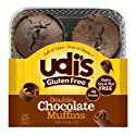 Udi's Gluten Free Double Chocolate Muffins, Super Moist and Tasty, 4 pack, (Frozen)