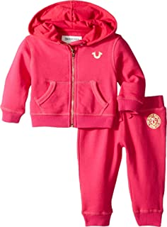Kids Baby Girl's Shattered Hoodie Set (Infant) Fuchsia 9