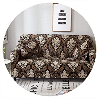 sensitives Elegant Modern Sofa Cover Spandex Elastic Polyester Floral 1/2/3/4 Seater Couch Slipcover Chair Living Room Furniture Protector,Model 19,1 Seat (90-140cm)