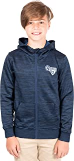 Ultra Game NFL Boys' Extra Soft Fleece Pullover Hoodie Sweatshirt