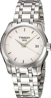 Tissot Women's T0352101101100 Couturier Analog Swiss Quartz Silver Stainless Steel Watch