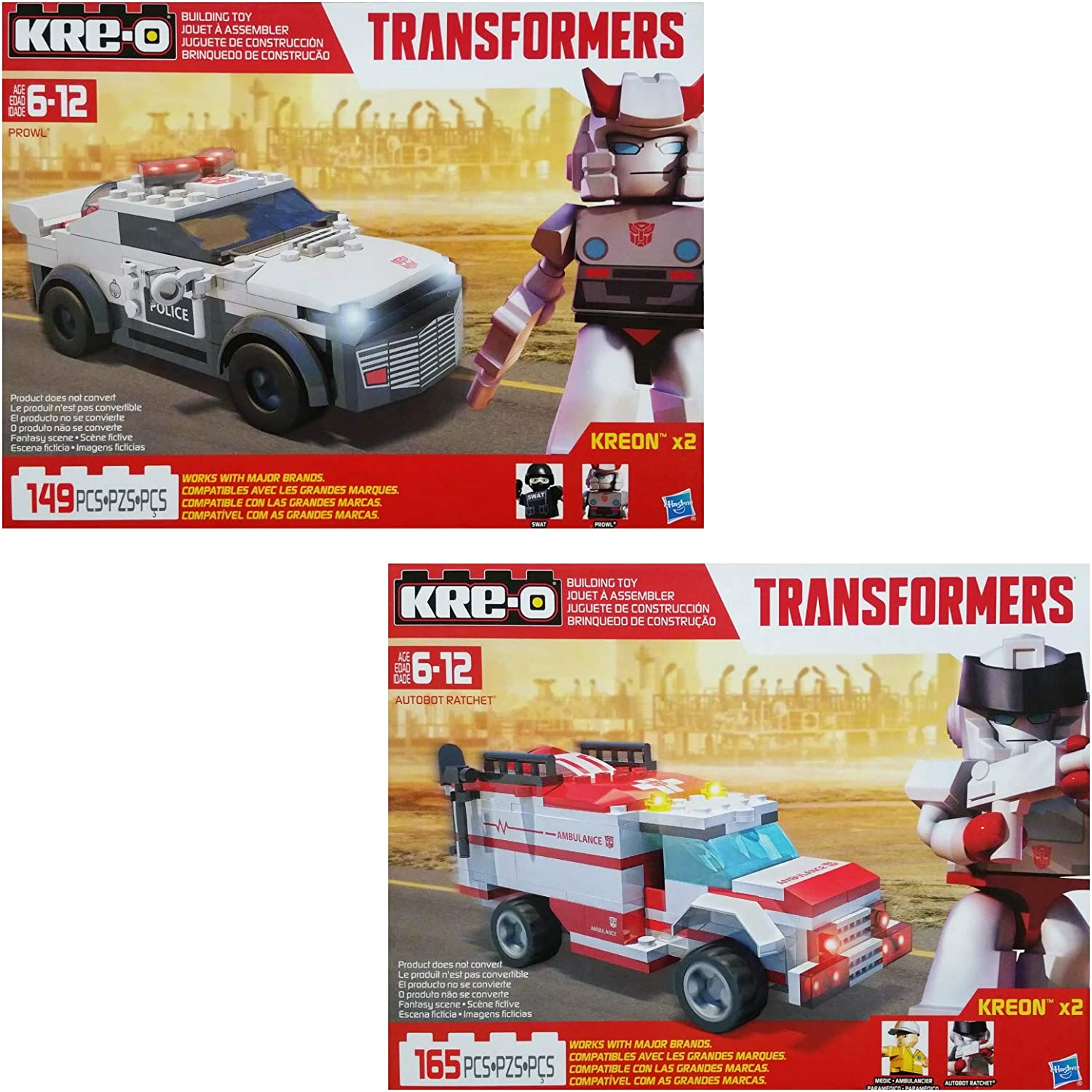 Kre-o Transformers Brick Box Micro ndern Bundle with Optimus Prime, Bumblebee, Cliffjumper, Barricade & Collection 1, 2, 3, 4& Preview Series Blind Bags (1of each)