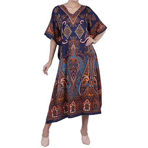 6047bef6433 Miss Lavish London Women Kaftan Tunic Kimono Free Size Long Maxi Party Dress  for Loungewear Holidays