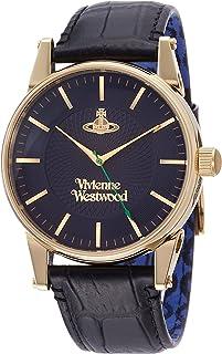 [ヴィヴィアンウエストウッド]Vivienne Westwood 腕時計 Finsbury ブルー文字盤 ブラック革 クォーツ VV065NVBK メンズ 【並行輸入品】