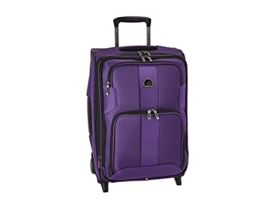 Delsey Sky Max Expandable 2-Wheel Carry-On (Purple) Luggage