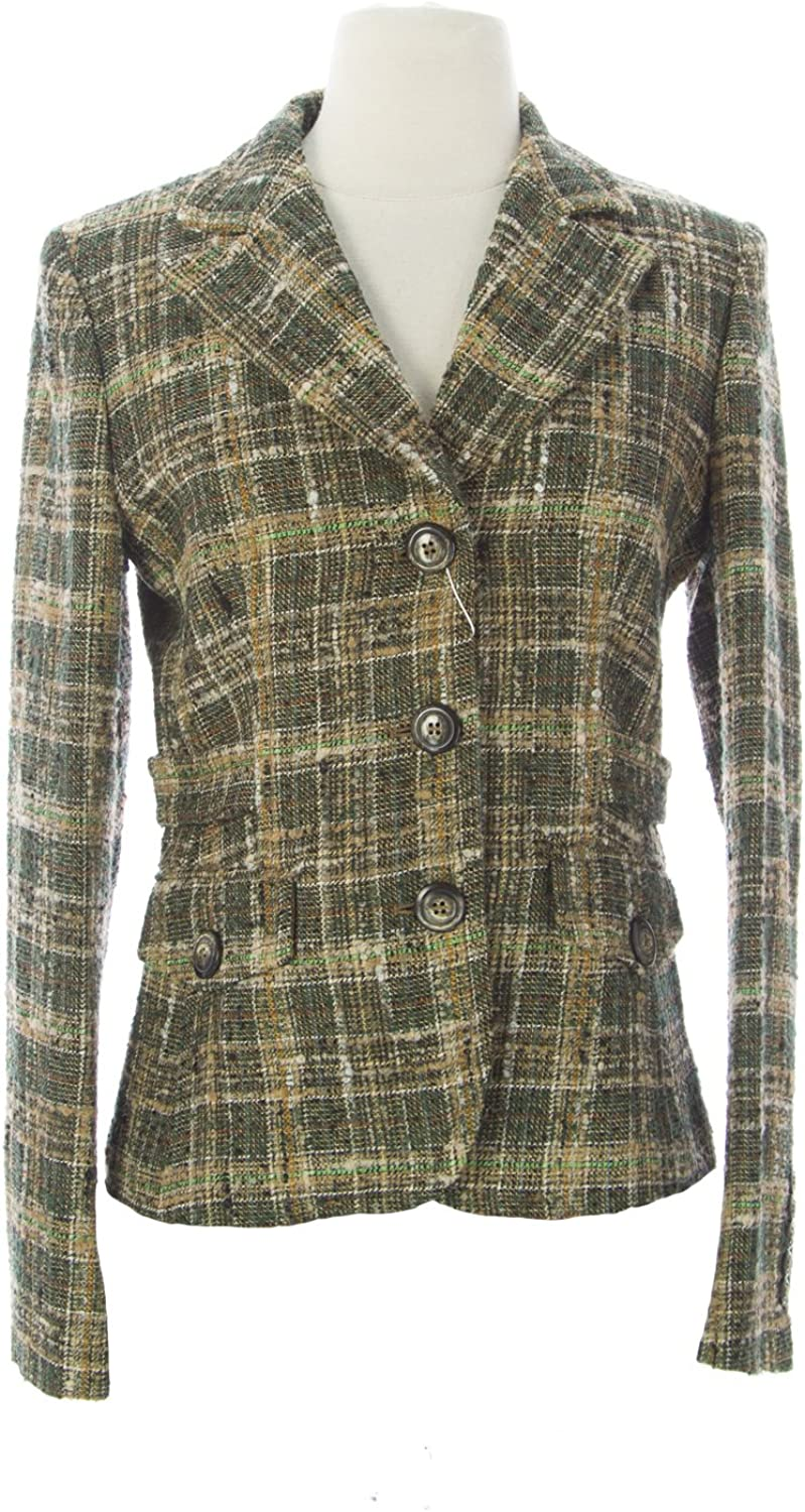 MARELLA Women's Miki Tweed Linen Blazer IT 42 Multi