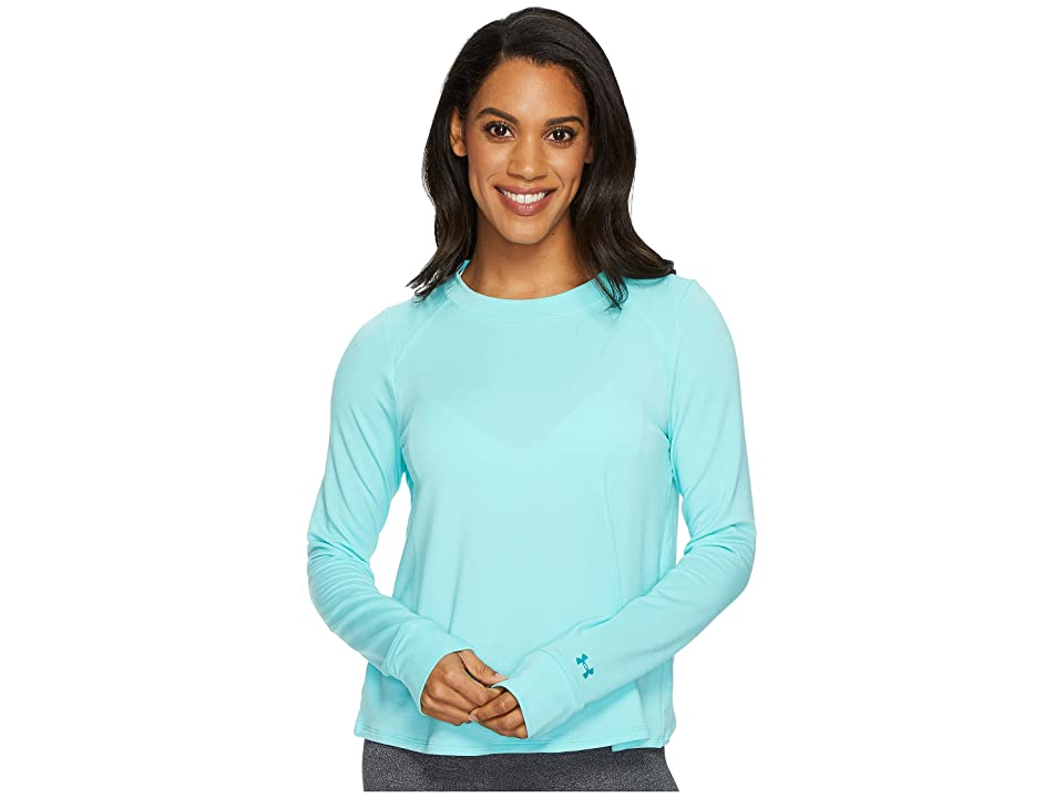 Under Armour Modal Terry Crew Top (Tropical Tide/Tonal) Women
