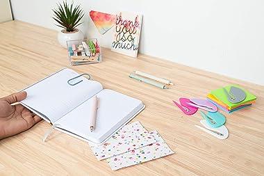 Letter Openers Envelope Slitters, Plastic with Blade Paper Knife, Turquoise Blue Bulk Set (5 Pack)