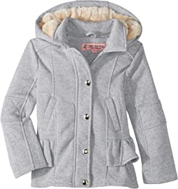 Elena Fleece Hooded Jacket w/ Ruffles (Little Kids/Big Kids)
