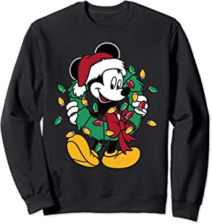 Mickey Mouse Christmas Lights Pullover Sweatshirt